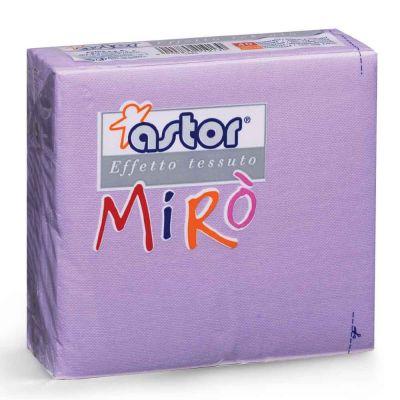 40 Tovaglioli di carta microgoffrati TNT 2 veli 38x38 lilla