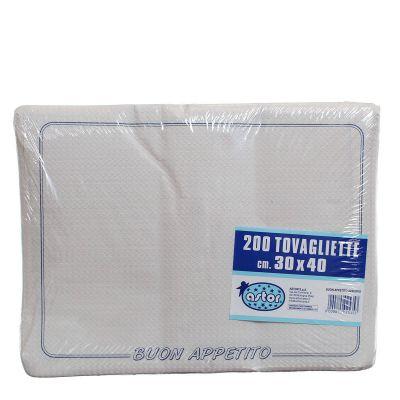 Confezione tovagliette americane usa e getta Astor 30x40 buon appetito azzurro