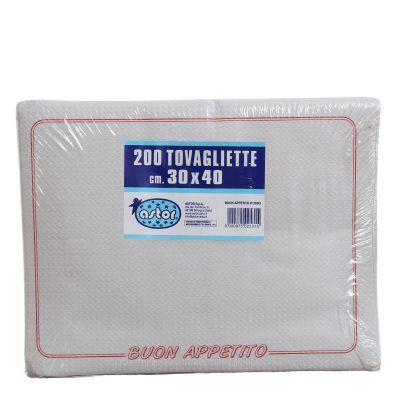 Confezione tovagliette americane usa e getta Astor 30x40 buon appetito rosso