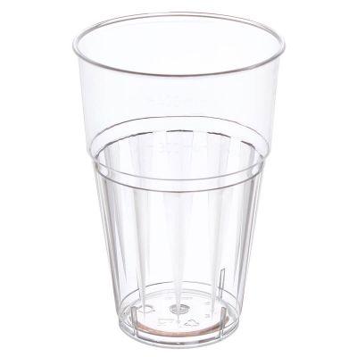 Bicchiere da frullato e frappè in plastica PS usa e getta trasparente