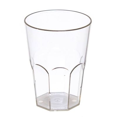 Bicchiere per cocktail in policarbonato plastica trasparente rigida riutilizzabili 290ml