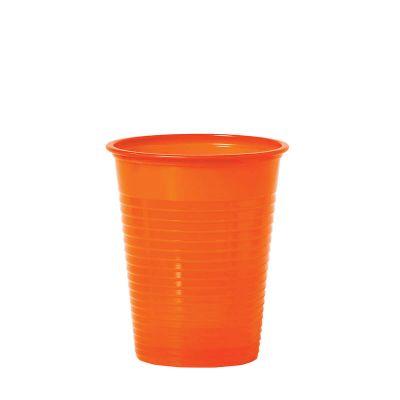 Bicchieri di plastica colorati DOpla Colors 200cc  arancione