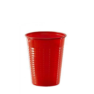 Bicchieri di plastica colorati DOpla Colors 200cc rosso