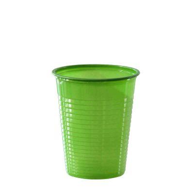 Bicchieri di plastica colorati DOpla Colors 200cc verde chiaro acido