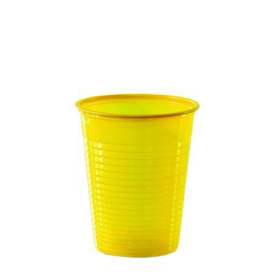 Bicchieri di plastica colorati DOpla Colors 200cc giallo