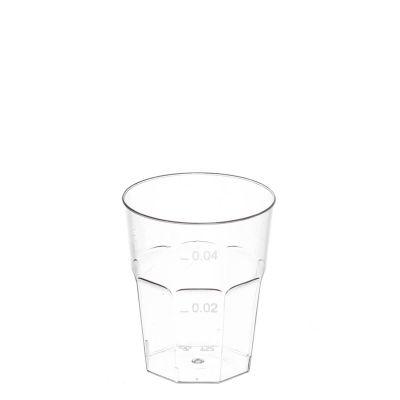 Bicchierini da shot monouso di plastica PS trasparente 50cc