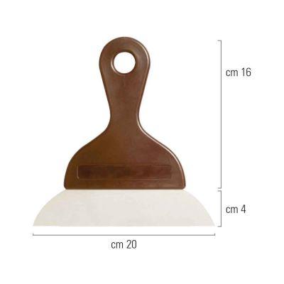 Spatola raschietta in acciaio inox e manico con lama liscia 20 cm