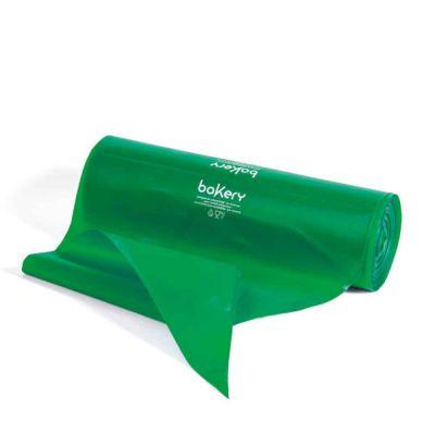 100 Sac à poche tasca da pasticcere verdi in rotolo Bakery 53 cm