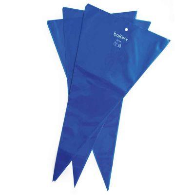 100 Sac à poche tasca da pasticcere antiscivolo blu Bakery 53 cm