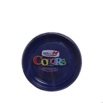 Piatti di plastica colorati per feste DOpla Colors Ø17 cm blu