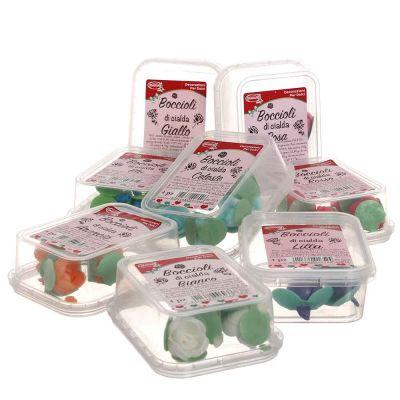 Boccioli di cialda ostia colorati per decorazione torte 4 pz.