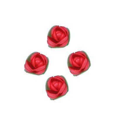 Boccioli di cialda ostia rossi per decorazione 4 pz.