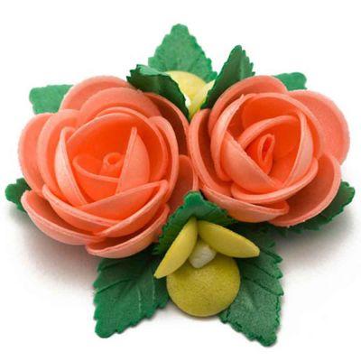 Bouquet di cialda fiori di ostia arancio per decorazione