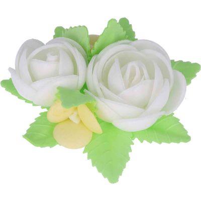 Bouquet di cialda fiori di ostia bianco per decorazione