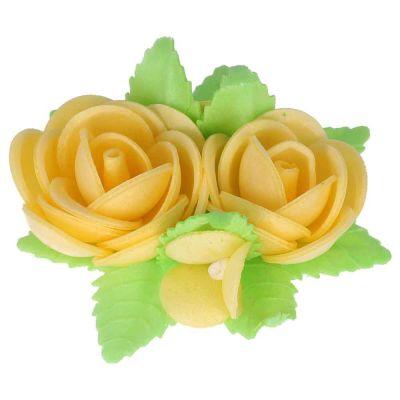 Bouquet di cialda fiori di ostia giallo per decorazione