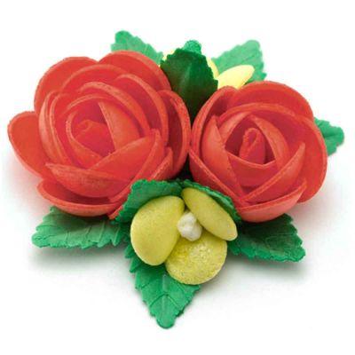 Bouquet di cialda fiori di ostia rosso per decorazione