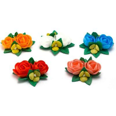 Bouquet di cialda fiori di ostia colorati per decorazione torte
