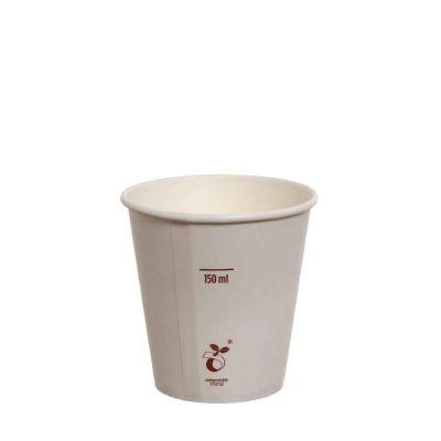 50 Bicchieri compostabili in cartoncino bianco 180 ml