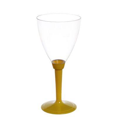 Calici acqua Poloplast gambo lungo giallo