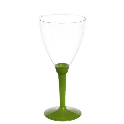 Calici acqua Poloplast gambo lungo verde
