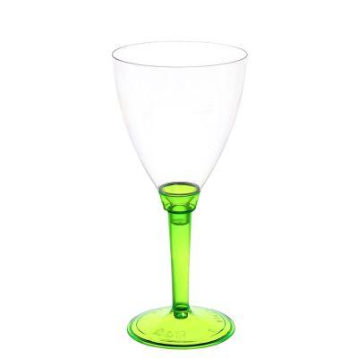 Calici acqua Poloplast gambo lungo verde fluo