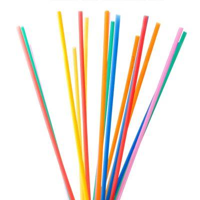 Cannucce di plastica colorate lunghe