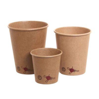 Bicchieri di carta stampati BIO fantasia Caffè in offerta