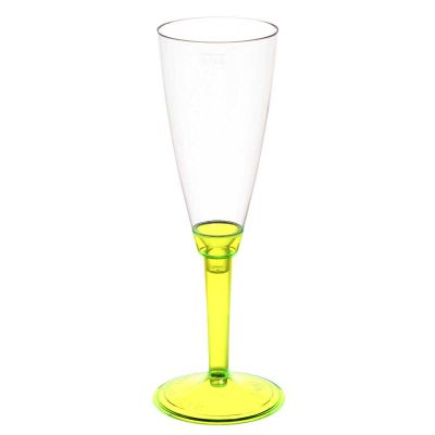 Flutes calici Poloplast gambo lungo giallo fluo