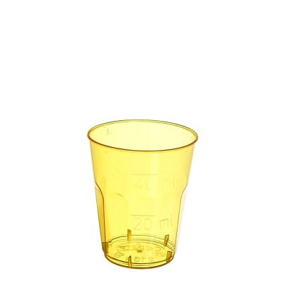 Bicchieri shot monouso di plastica gialla 50 ml in offerta