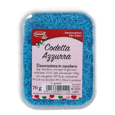Codette di zucchero azzurre per decorazioni 70 g