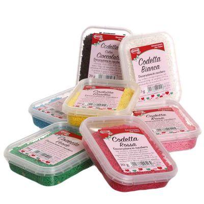Codette di zucchero colorate per decorazione dolci 70 g