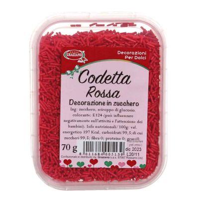 Codetta di zucchero rossa 70 g