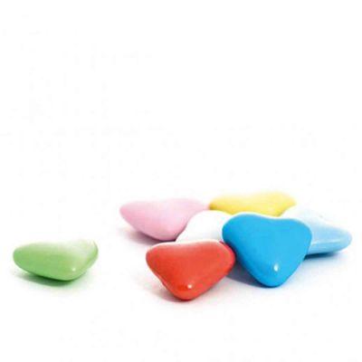 Confetti di cioccolato cuoricini colorati per decorazione