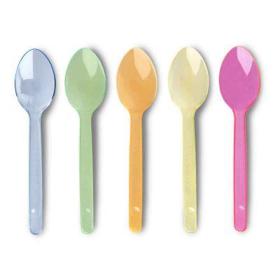 Cucchiaini di plastica colorati Poloplast corti 12,5 cm