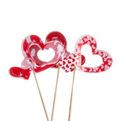 Decorazioni San Valentino Cuori su stecco di legno