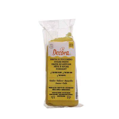 Pasta di zucchero giallo per copertura 100 g Decora