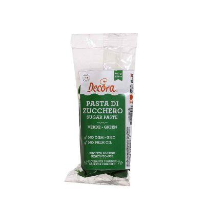 Pasta di zucchero verde per copertura 100 g Decora