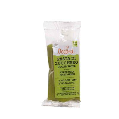Pasta di zucchero verde mela per copertura 100 g Decora