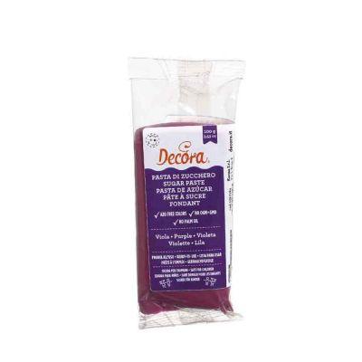 Pasta di zucchero viola per copertura 100 g Decora