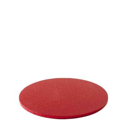 Cakeboard vassoio Sottotorta rotondo rivestito rosso Ø25 h 1,2 cm