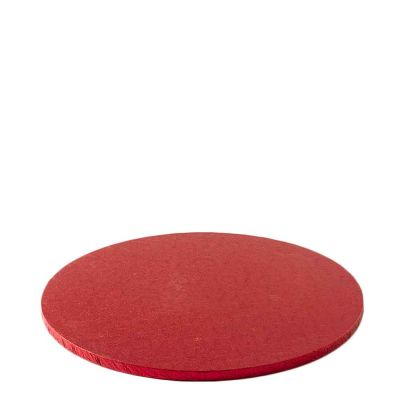 Cakeboard vassoio Sottotorta rotondo rivestito rosso Ø30 h 1,2 cm