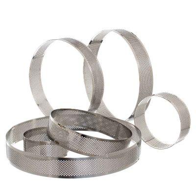 Stampo a fascia tondo microforato anello in acciaio inox h 3,5 cm Decora
