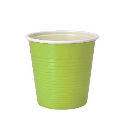 30 Bicchieri lavabili e riutilizzabili in plastica DOpla 230cc verde acido