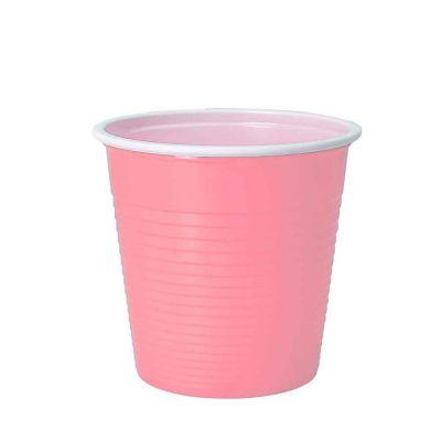 30 Bicchieri lavabili e riutilizzabili in plastica DOpla 230cc rosa