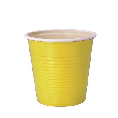 30 Bicchieri di plastica riutilizzabili 230ml gialli