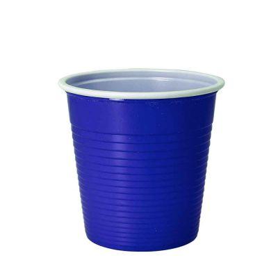 30 Bicchieri lavabili e riutilizzabili in plastica DOpla 230cc blu