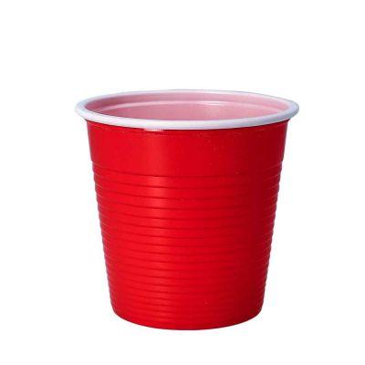 30 Bicchieri lavabili e riutilizzabili in plastica DOpla 230cc rosso