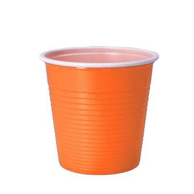 30 Bicchieri lavabili e riutilizzabili in plastica DOpla 230cc arancioni