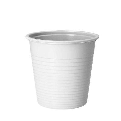 Bicchieri lavabili riutilizzabili in plastica DOpla 230cc bianco
