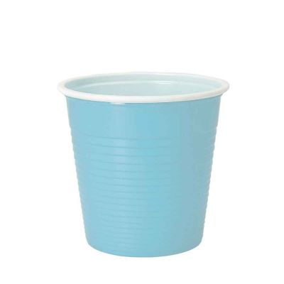 30 Bicchieri lavabili e riutilizzabili in plastica DOpla 230cc celeste
